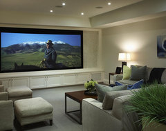 Lawrence Park Residence contemporary media room