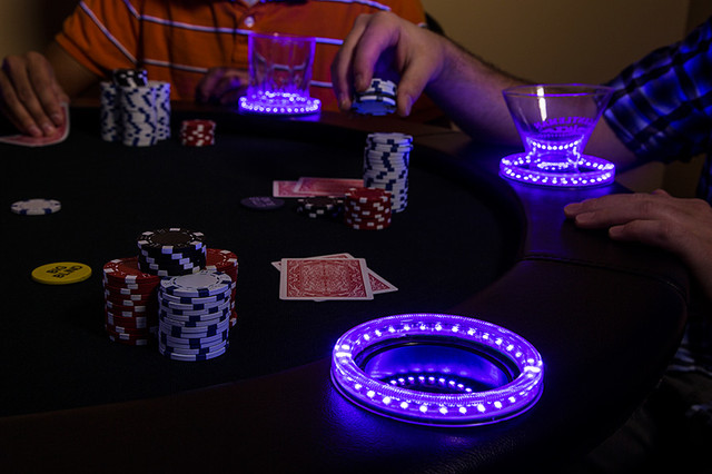 Remarkable Led Poker Table Contemporary Home Theater St Louis Beutiful Home Inspiration Xortanetmahrainfo