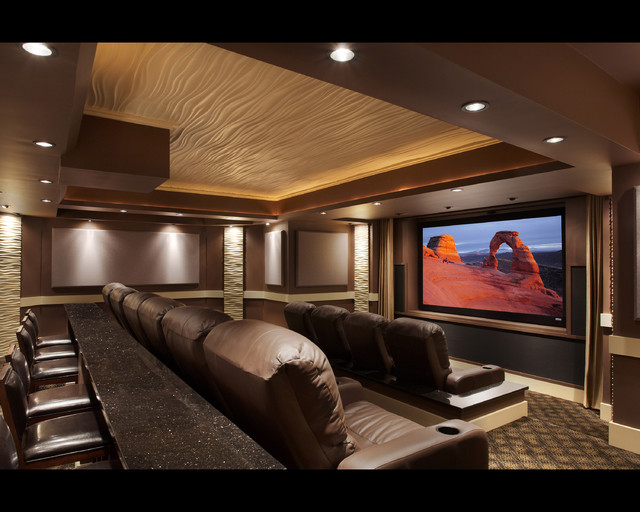 Leesburg Theater Modern Home Theater Dc Metro By Encore Custom