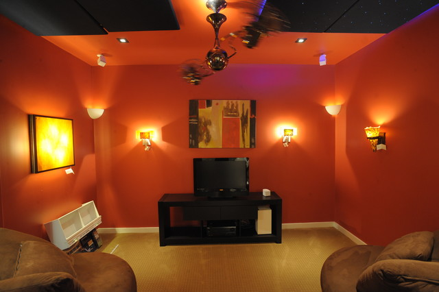 Light by Design contemporary-home-theater