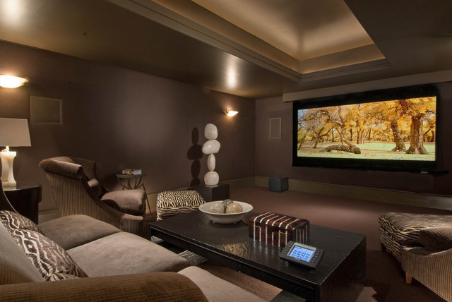 Living areas Home theater colors