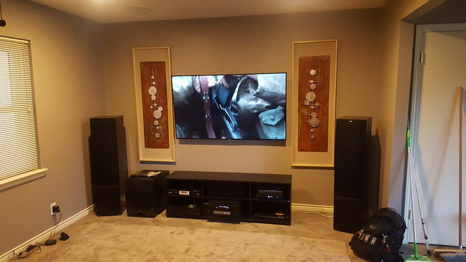 Living Room A/V system with ATMOS