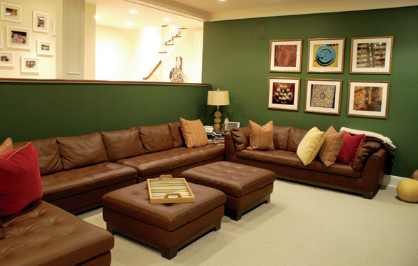 Living Spaces contemporary-home-theater