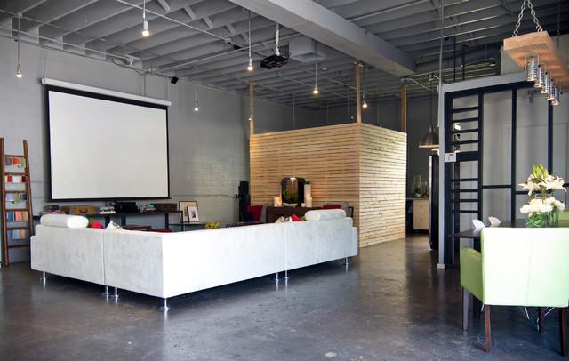 Loft minimalistisch heimkino los angeles von a.s.d.