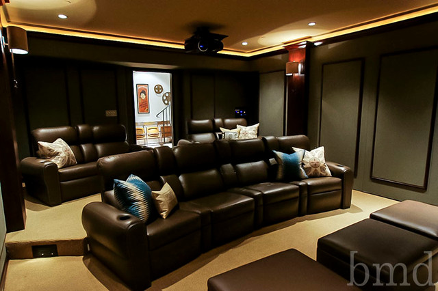 Los Feliz traditional-home-theater