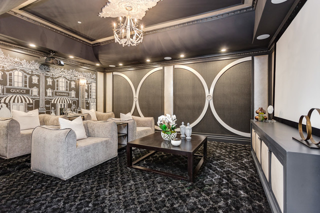 Lower Rancho Estate transitional-home-theater