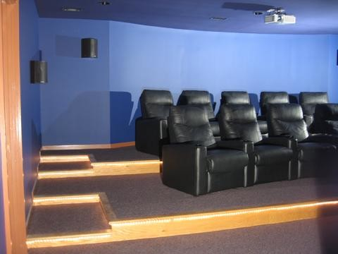 Lutherville Blue Home Theater Remodel