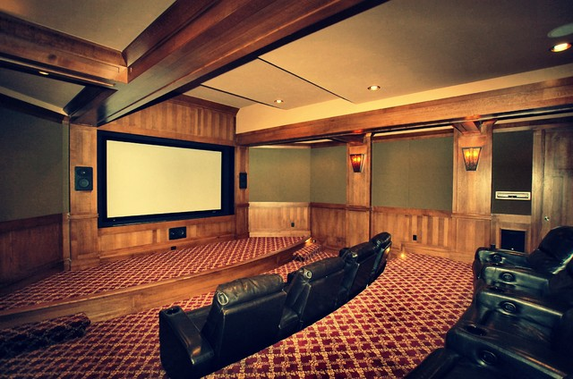 Luxury Custom Theaters by Timber Ridge Properties traditional-home-theater