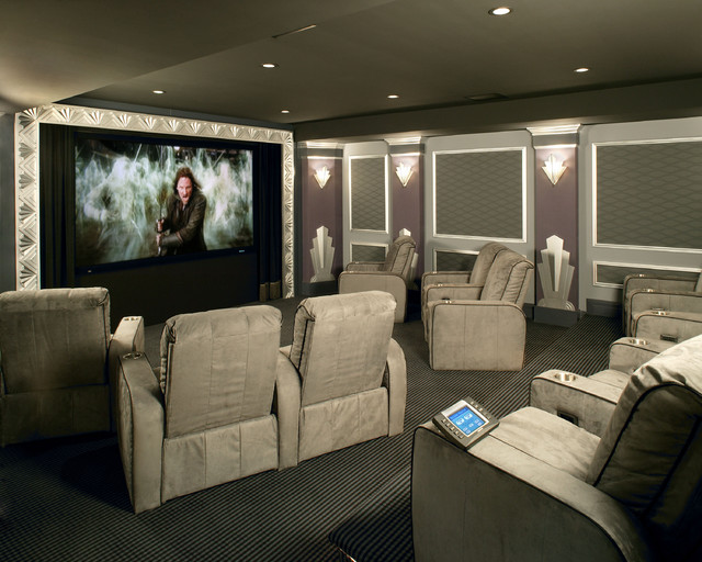Luxury Home Theater Eclectic Home Theater