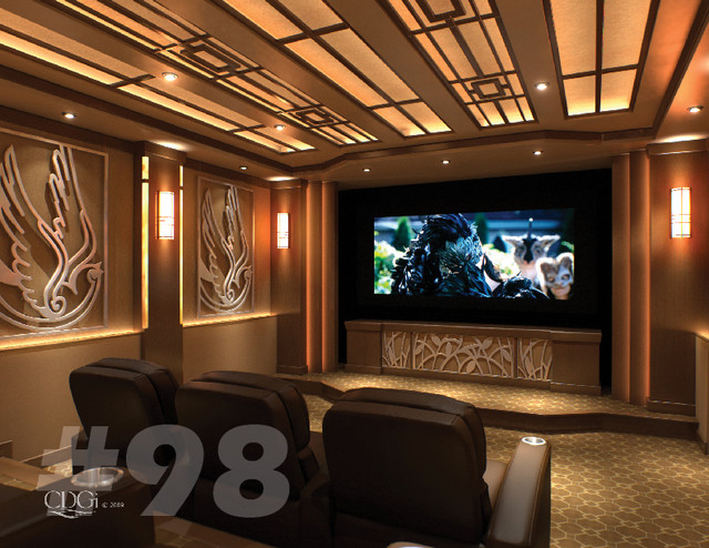 Luxury theater interiors contemporary home theater for Luxury home theater rooms