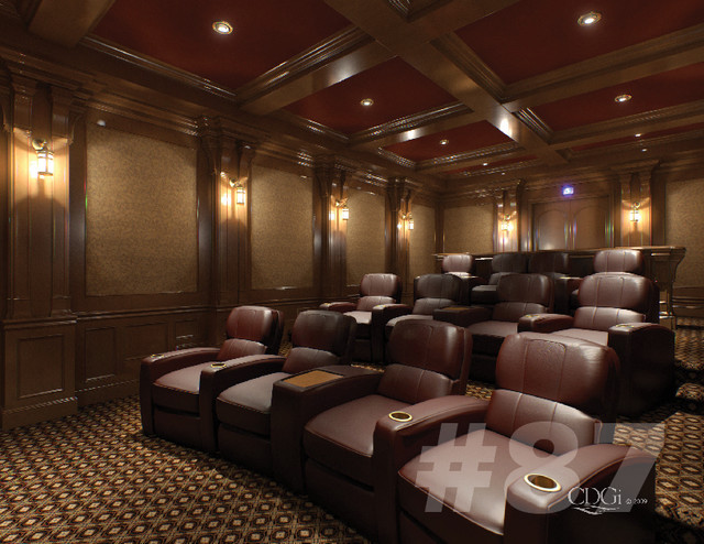 Luxury theater interiors traditional home theater for Luxury home theater rooms