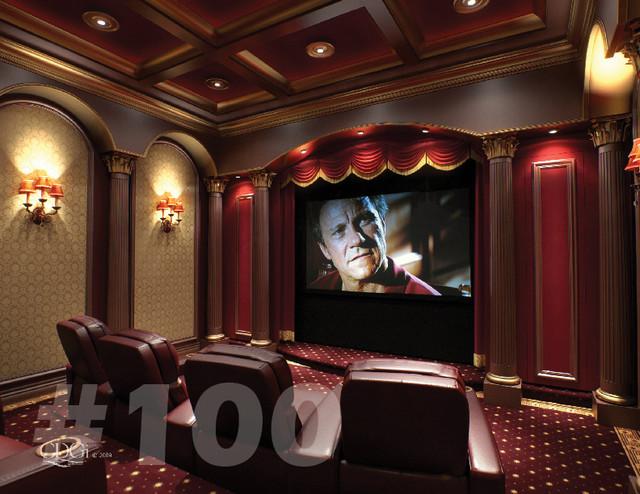 Luxury Theater Interiors Traditional Home Theater By