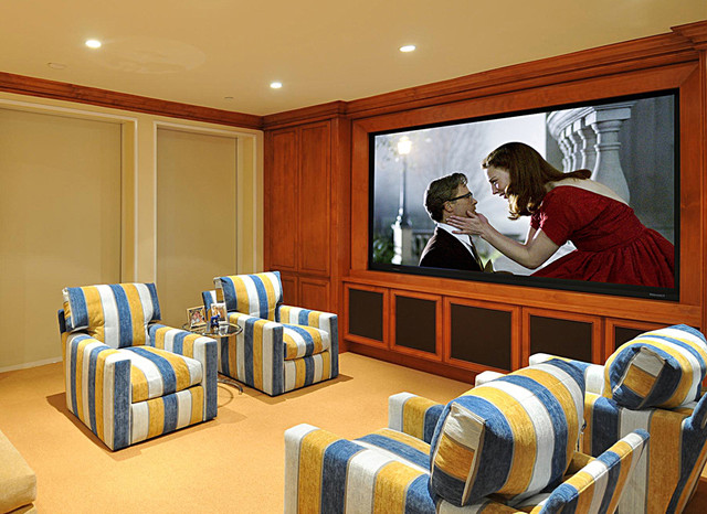 Malibu Custom Home Theater Traditional Home Theater Los Angeles