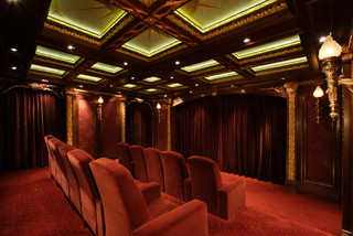 Malinard Manor - Theatre traditional-home-theater