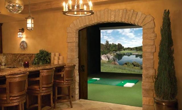 Man Cave Golf Room : Man cave full swing golf simulator traditional home