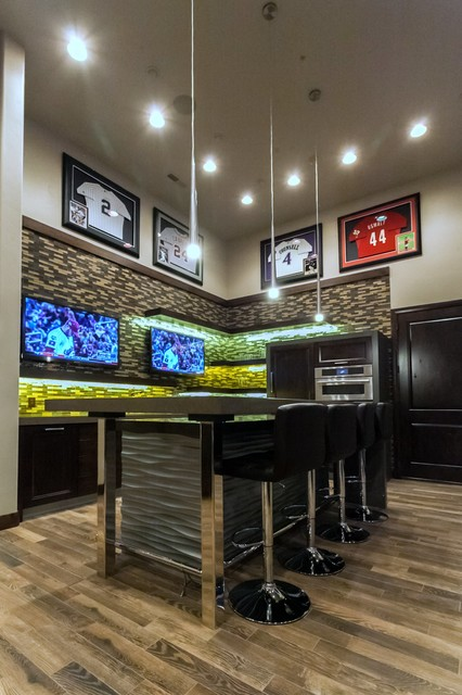 Man Cave Contemporary Home Theater Salt Lake City By Kristen Brooksby Interior Design