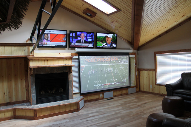 Man Cave Electronics : Man cave craftsman home theater cleveland by