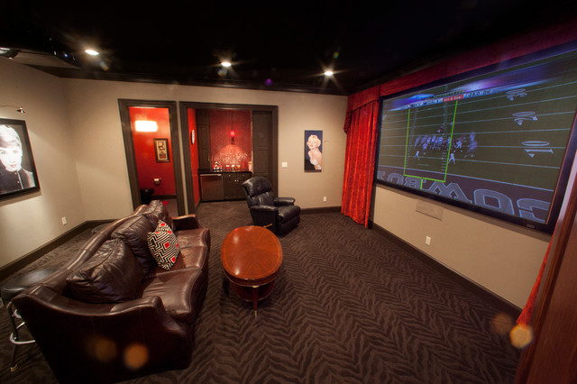 Man Cave - Home Theater - Dallas - by Texas Wood Mill Cabinets Inc