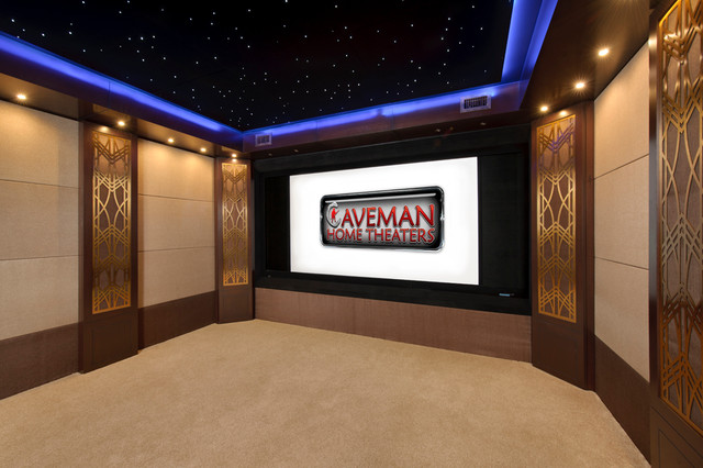 Manhattan Project - Private Home Theater/Media Room contemporary-home-theater