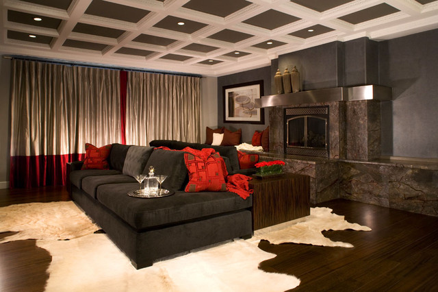Master Suite contemporary media room