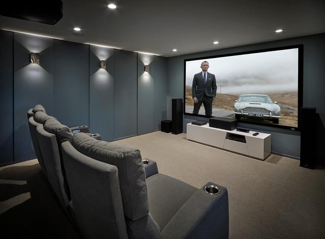 Matrix Theatre Room Contemporary Home Theater