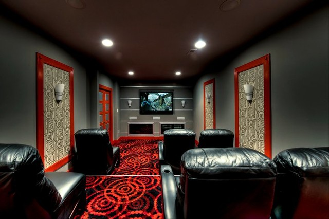 Synergy design construction design build firms - Mclean Theatre Room Contemporary Home Theater Dc