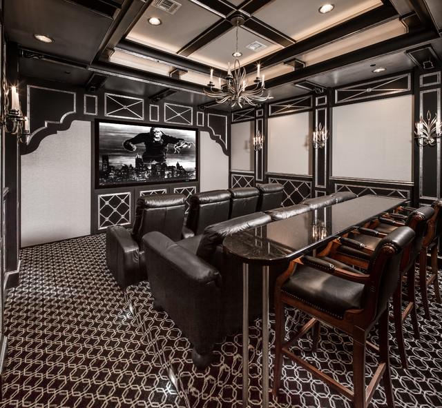 Custom Home Theater Rooms: Mediterranean