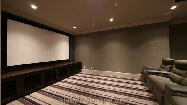 Media audio visual rooms contemporary home theater for Media room built in cabinets
