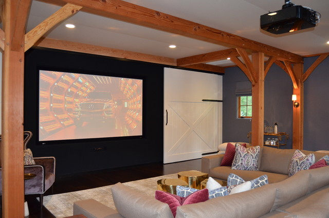 Media/Game Room - Converted Barn in Harding, NJ traditional-home-theater