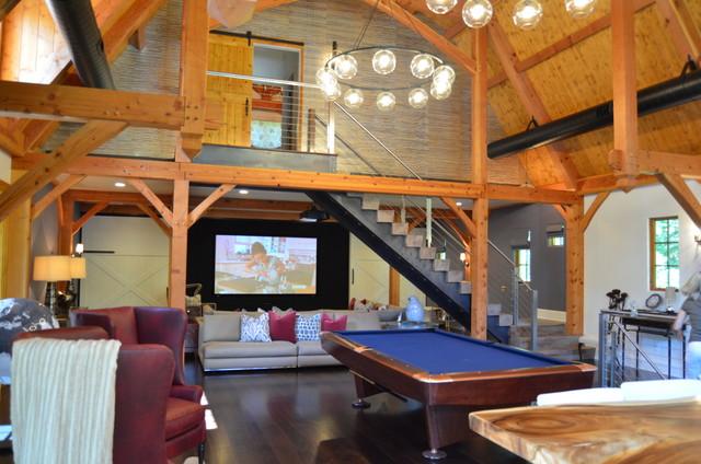 Media Game Room Converted Barn In Harding Nj