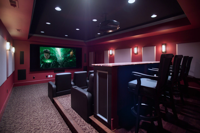 Media Room And Home Theater American Traditional Dc Metro By Rule4 Building Group