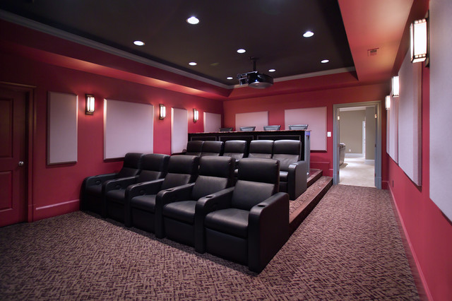 Media Room and Home Theater traditional media room
