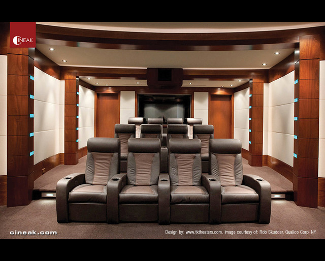 Media Room And Private Cinema Seats By Cineak Modern Media Room
