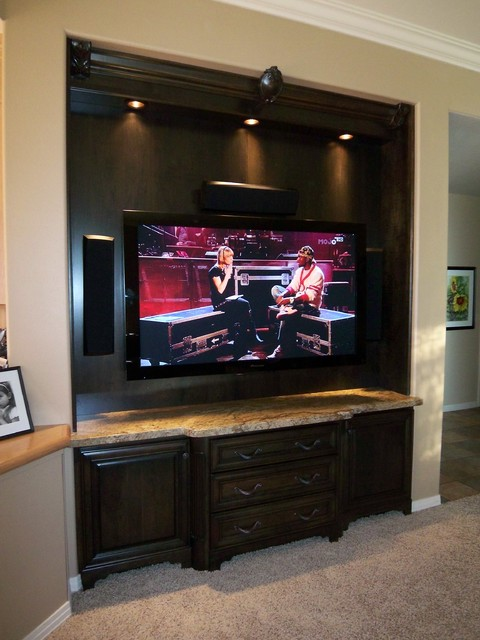 Media Room Cabinet - Traditional - Home Theater - Denver - by Cress Kitchen & Bath