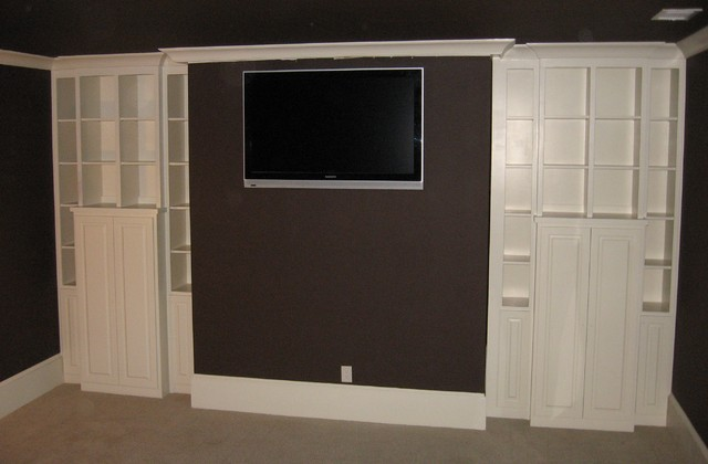 Media Room Cabinets - Contemporary - Home Theater - atlanta - by True Carpentry and Cabinetry