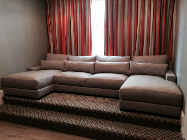 Media Room Custom Sectional Sofa Transitional Home Theater Zhe7px0h