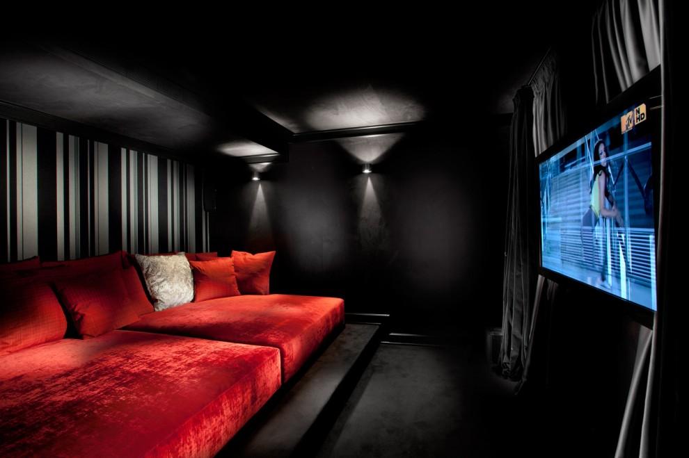 Media Room Contemporary Home