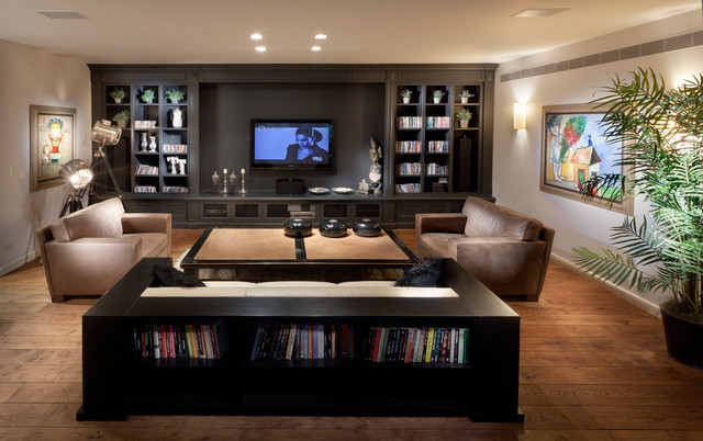 contemporary media room by Elad Gonen & Zeev Beech