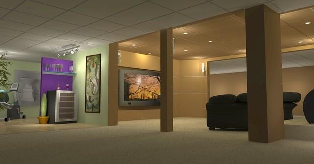Media Room Exterior contemporary-home-theater