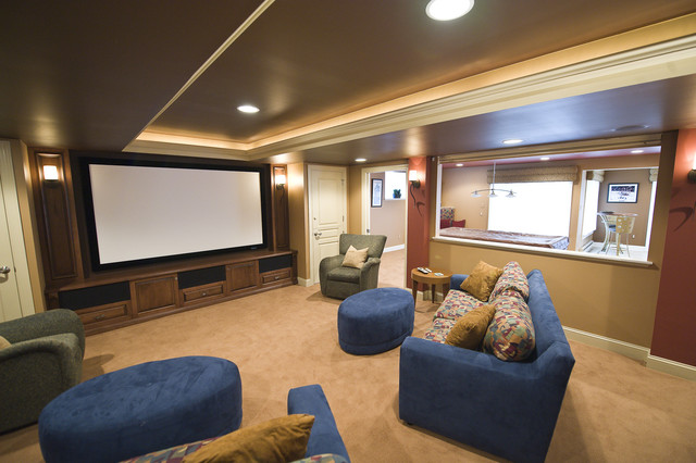 Media room in Upper Holland, PA traditional-home-theater