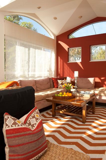 San Rafael Villa eclectic-home-theater