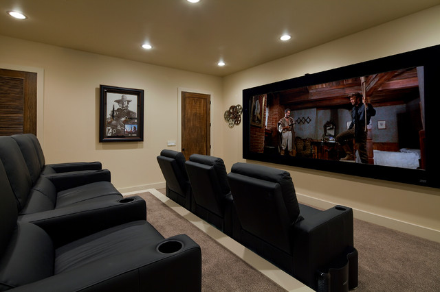 Media Room Mediterranean Home Theater Austin By Jenkins Custom