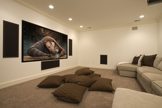 Media Room mediterranean-home-theater