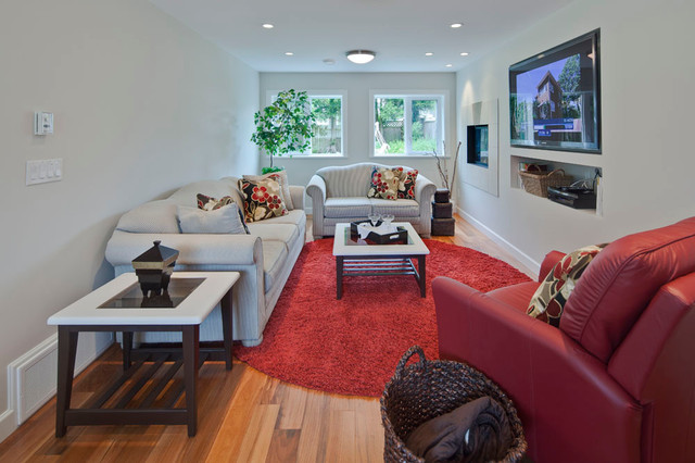 Media Room transitional-home-theater