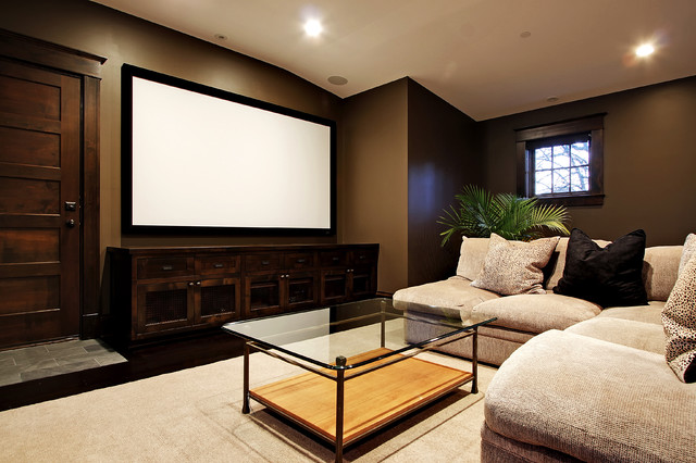 Elegant Home Theater Photo In Seattle