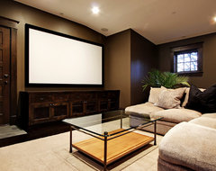 Media Room contemporary media room