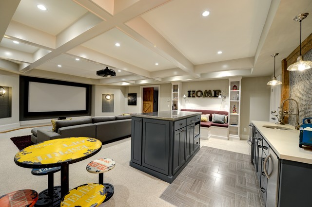 Media Room Contemporary Home Theater Atlanta By The Consulting House Inc