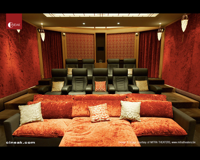 Media Room With Cineak Intimo Seats Contemporary Home Theater Part 65