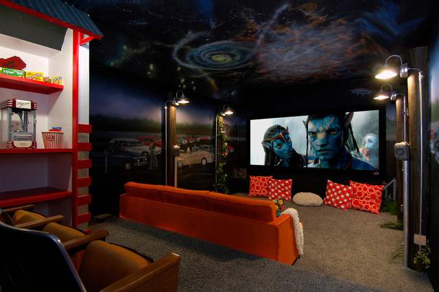 Media rooms and theaters for Small room movie theater