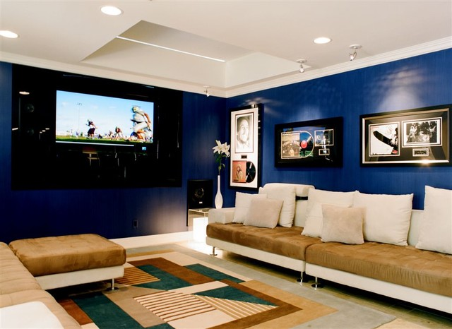 Media Rooms contemporary-home-theater